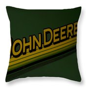 John Deere Signage Decal Throw Pillow