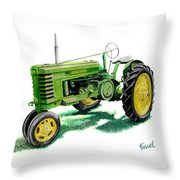 John Deere Tractor Throw Pillow
