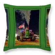 John Deere Tractor Pull Poster Throw Pillow