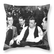 John Dillinger 1903-1934 Throw Pillow