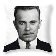 John Dillinger - Bank Robber And Gang Leader Throw Pillow