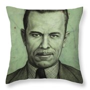 John Dillinger Throw Pillow