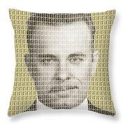 John Dillinger Mug Shot - Gold Throw Pillow