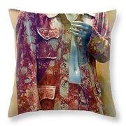 John Entwistle's Tie Died Suede Suit Throw Pillow