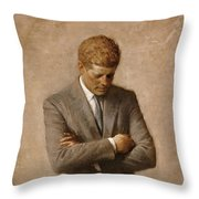 John F Kennedy Throw Pillow