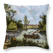 John Fitch Steamboat, 1796 Throw Pillow