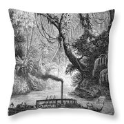 John Fitch Steamboat Throw Pillow by Granger