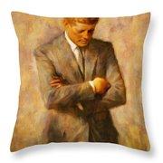 John Fitzgerald Kennedy Throw Pillow
