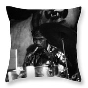 John Gilmore At The Red Garter 1970 Nyc Throw Pillow