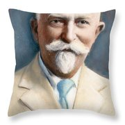 John H. Kellogg, 1852-1943 Throw Pillow