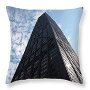 John Hancock Center And Surrounding Buildings Throw Pillow
