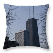John Hancock Center Throw Pillow