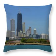 John Hancock Center Chicago Throw Pillow