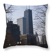 John Hancock Center II Throw Pillow