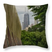 John Hancock From Lincoln Park Throw Pillow