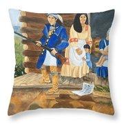 John Henry King Interpretation Throw Pillow