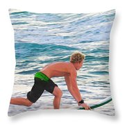 John John Florence - Surfing Pro Throw Pillow