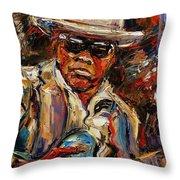 John Lee Hooker Throw Pillow