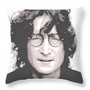John Lennon - Parallel Hatching Throw Pillow