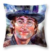 John Lennon Portrait Throw Pillow
