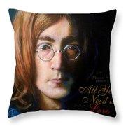 John Lennon - Wordsmith Throw Pillow