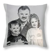 John Megan And Joey Throw Pillow