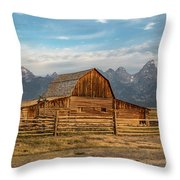 John Moulton Barn Sunrise Throw Pillow