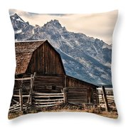 John Moulton's Barn Throw Pillow