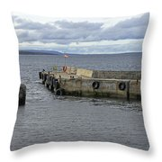 John O'groats Harbour Throw Pillow
