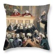 John Peter Zenger Trial Throw Pillow by Granger