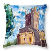 John Piper's Jewel - Sunningwell Church Throw Pillow