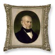 John Quincy Adams, 6th U.s. President Throw Pillow