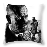 John Steinbeck Throw Pillow