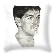 John Stockton Throw Pillow by Tamir Barkan