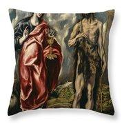 John The Baptist And Saint John The Evangelist Throw Pillow