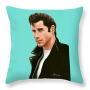 John Travolta Grease Throw Pillow