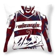 John Wall Washington Wizards Pixel Art 5 Throw Pillow