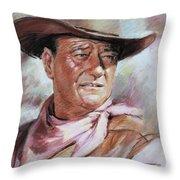 John Wayn Throw Pillow