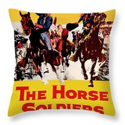John Wayne And William Holden In The Horse Soldiers 1959 Throw Pillow