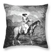 John Wayne At The Ready On Horseback Pa 01 Throw Pillow