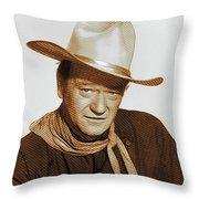 John Wayne, Hollywood Legend Throw Pillow