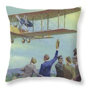 John William Alcock And Arthur Whitten Brown Who Flew Across The Atlantic Throw Pillow