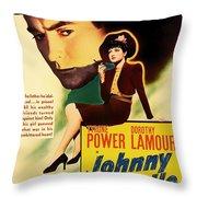 Johnny Apollo 1940 Throw Pillow