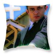 Johnny Cash 1961 Throw Pillow