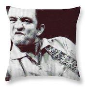 Johnny Cash Beer Cap Mosiac Throw Pillow