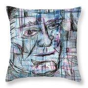 Johnny Cash Throw Pillow by Jera Sky