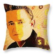 Johnny Cash Poster  Throw Pillow