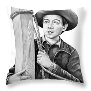 Johnny Crawford-mark Mccain Throw Pillow