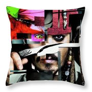 Johnny Depp - Collage  Throw Pillow