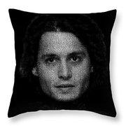 Johnny Depp Typography Throw Pillow